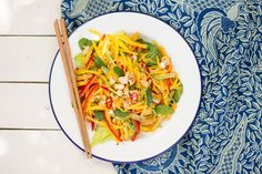 Thai mango salad is a light and refreshing meal on a hot summer's day. It's a truly delicious salad full of contrasting textures and flavours.