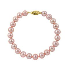 """5.5-6mm 8"""" Pink Freshwater Pearl Bracelet """"AAA"""" 14K Yellow Gold, Free Shipping and Gift Box Joy De Mer. $46.00. 14K Yellow Gold Clasp. 8"""" Pink Freshwater Pearl Bracelet. Free shipping, gift box, bag, cleaning kit, pearl care and information guide. """"AAA"""" Quality Pearls. 100% Silk Thread. Save 72%!"""