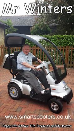 Another happy customer on his new TGA breese mobility scooter… Motorized Tricycle, Tricycle Bike, Adult Tricycle, Motor Scooters, Vespa Scooters, Mobility Scooters, Scooter Wheels, Scooter Motorcycle, Mobility Aids