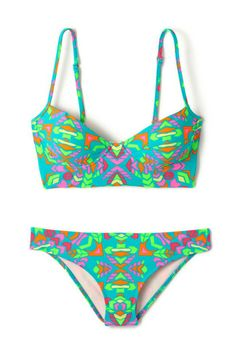 20 Discounted Swimsuits That Won't Burn Your Budget #refinery29 http://www.refinery29.com/affordable-swimsuits#slide1 Mara Hoffman Underwire Bra Top, $79.99 (originally $132), available at Everything But Water; Mara Hoffman Hipster Bottom, $64.99 (originally $101), available at Everything But Water.