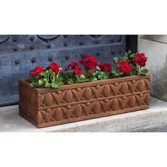 Campania International, Inc Rectangular Planter Box Finish: Copper Bronze