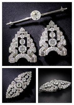 Diamond Brooch, Diamond Jewelry, Gemstone Jewelry, Antique Jewelry, Vintage Jewelry, Diamond Tops, High Jewelry, Jewellery, Art Nouveau Jewelry
