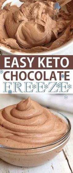 Quick and Easy Keto Chocolate Frosty Recipe -- low carb and sugar free! The BEST low carb dessert ever! This treat is made with heavy whipping cream cocoa powder vanilla extract almond butter and stevia. Atkins and ketogenic diet friendly. Stevia, Top Secret Recipes, Low Carb Desserts, Low Carb Recipes, Low Carb Dessert Easy, Yogurt Recipes, Juice Recipes, Smoothie Recipes, Healthy Recipes