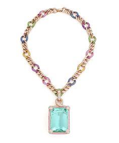 Margot McKinney 145.31ct aquamarine collier in rose gold.