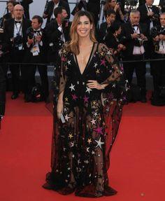 Camila Coutinho wearing Elie Saab. Cannes 2017