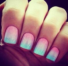 Cotton candy ombre nails - love!   http://www.epicee.com