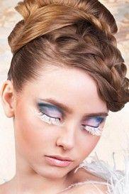 White Feather Eyelashes
