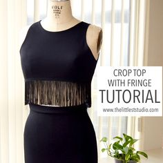 579757f328a Melanie from The Littlest Studio shows how you can make this fringed crop  top using her free bodice pattern. It's an easy adaptation to give…