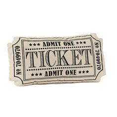 Black Movie Ticket Pillow | Kirklands
