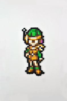 Lucca from Chrono Trigger Magnet Perler Bead