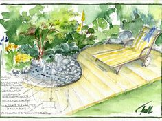 Garten- und Landschaftsplanung Parks, Planer, Painting, Private Garden, Landscape Architecture, Painting Art, Paintings, Draw, Park