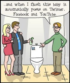 Social Media Humor - The new high tech social media toilet, get yours! - Online Social Media Marketing for Your Business