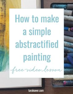 How to make a simple abstractified painting. In this free painting video lesson I share how you can take a simple motif and use it to create an expressive, 'abstractified' painting. A great way to make art on uninspired days, and develop your voice as an artist using motifs and palettes that you love.
