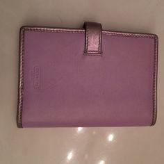 Cute Coach mini wallet No tear, has minor flaw seen in pin # 4 Coach Bags Wallets