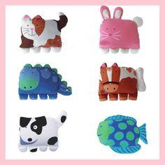 Federa per cuscino a forma di animale (da coccolare!) - Bella Mamma - vendita on line prodotti per bambini, giochi, accessori, negozio compra online
