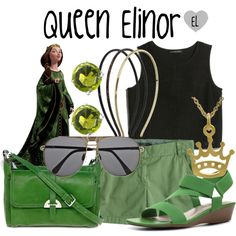 """""""Queen Elinor -- Brave"""" by evil-laugh on Polyvore"""