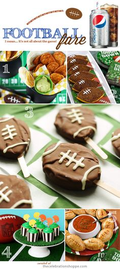 Football Tailgating Ideas | Superbowl with TheCelebrationShoppe.com #footballfood #halftime #superbowl