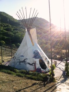would move into this tepee right about now.