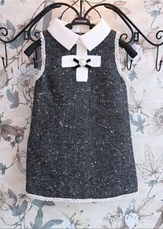 Online Shop 2015 New arrival Europe and American Style girl sleeveless princess dress with bow for autumn cute clothing for kids wear Little Girl Fashion, Kids Fashion, Little Girl Dresses, Girls Dresses, Cute Baby Clothes, Kind Mode, Kids Wear, Baby Dress, Girl Outfits