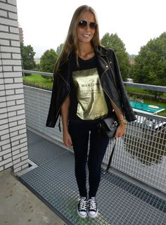 Black #Converse #Chucks Chuck Taylor low-tops; #tennis shoes; #trainers (My Diary of Style)