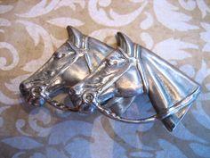 Vintage Vargas Sterling Horse Head Brooch Pin by charmingellie, $32.00