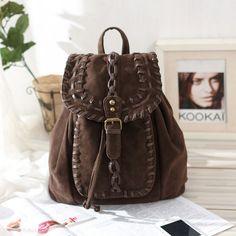 Fashion Dark Brown Braid Backpack Fashion Backpacks - Fashion Bags- ByGoods.com