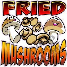 "7"" Fried Mushrooms Bar Menu Concession Trailer Decal"