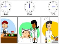 Interactive Visual Time table to make classroom or home schedules for autism and other disabilties
