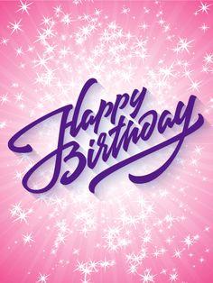 Sparkling Happy Birthday Card