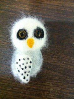 Super cute Woolen owl brooch by IlyasOva