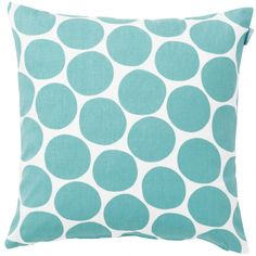 The Spira Pom Pom cushion from Hus & Hem has a playful design of irregular turquoise spots that will brighten any sofa and add a little cheer.  Pom Pom blue is the perfect stand alone cushion, or be bold and create a mixture of clashing prints and patterns.