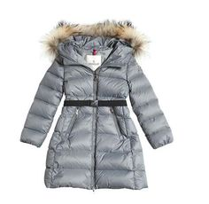 Kids Moncler Sliver Enfant Majeure Nylon Long Coat  moncler  monclerkids   sliver  monclersuit de0cc178b35
