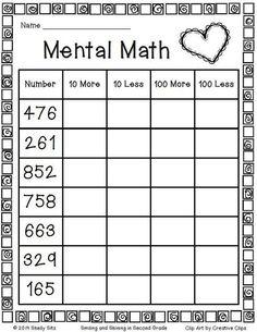 √ 30 Second Grade Math Worksheets . 16 Second Grade Math Worksheets. Mental Maths Worksheets, Math Activities, Mental Math Strategies, First Grade Math Worksheets, Number Worksheets, Alphabet Worksheets, Printable Multiplication Worksheets, Worksheets For Class 1, Addition Worksheets