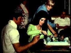 FOOTAGE: Elvis' surprise party for Priscilla's 21st Birthday (May 24, 1966)