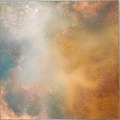 Feuille dor peinture abstraite étoiles géométriques Galaxy