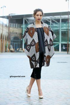NEW Be Brown African print winter coat by Gitas by GitasPortal