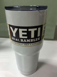 In Stock White Color 30oz YETI Rambler Tumbler Cup White Bilayer Vacuum Insulation Cup With Free Shipping