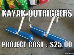 Cheap Outriggers for Pelican Castaway 100 Kayak - YouTube