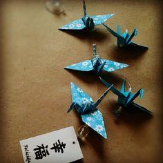 Móbile Tsurus da Felicidade - azul