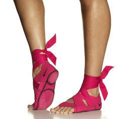 studio wrap nike - for barre and yoga - comes with ballet flat that slips over for outdoor wear.