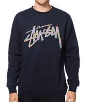 Stussy Stock CMYK Crew Neck Sweatshirt