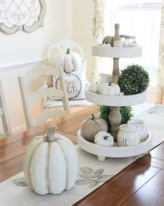 Pin for Later: 12 Stunning Fall Centerpieces That Will Inspire You Tiered Centerpiece