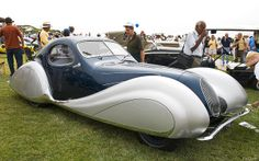 1937 Talbot-Lago T150 CSS Teardrop - Blue met & Silver met - fvr   Flickr - Photo Sharing!