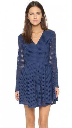 Hailey Baldwin Makes a Case for The Little Blue Dress via @WhoWhatWear