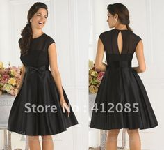 Black T Length Dresses
