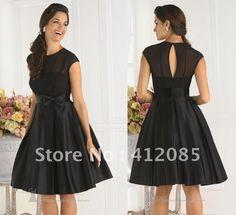 Black Tea Length Bridesmaid Dresses - Ocodea.com