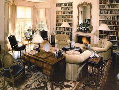 SUZANNE MYERS ELITE INTERIOR DESIGN: Country gentleman's estate living room.