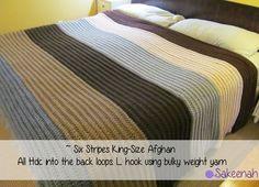 Six Stripes King Size Crochet Afghan - Finally Done! Sakeenah