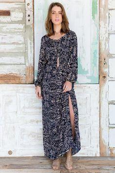 Greta Paisley Maxi Dress $44.00