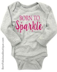Adorable and comfortable newborn baby outfit makes a great gift! Dark heather grey and pink is so popular and will look so cute on your baby girl. Soft dark heather grey bodysuit is embellished with f